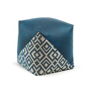 Pufe Malawi 45 x 45 cm azul