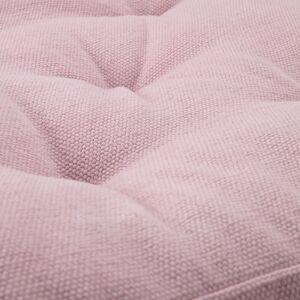 Kave Home Almofada para chão Sarit 100% algodão rosa 60 x 60 cm