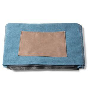Capa pufe-cama Kos azul escuro