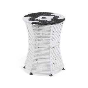 Repousa-pés Kali branco e preto 40 cm