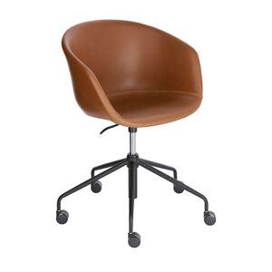 Cadeira de escritório Yvette pele castanho