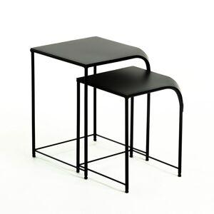 Conjunto de 2 mesas auxilia , en Metal - Preto