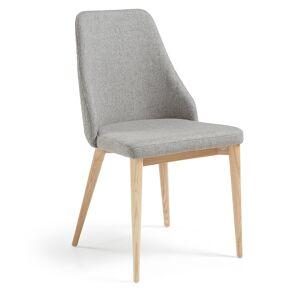 Cadeira Rosie cinzento claro acabamento natural