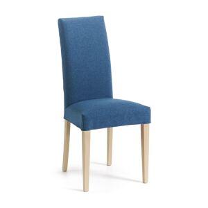 Cadeira Freda azul escuro e natural