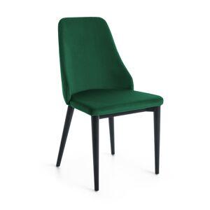 Cadeira Rosie em veludo verde