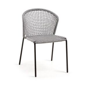 Cadeira Mathew corda cinza claro