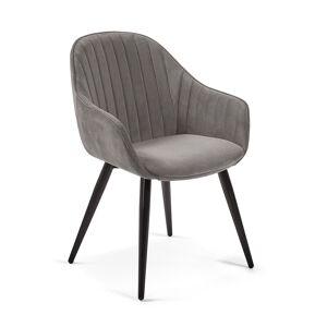 Cadeira Fabia veludo cinzento