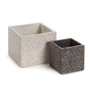 Conjunto Bransc de 2 vasos quadrados