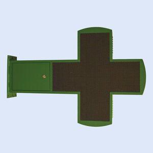 Cruz de farmácia LED XL programável multicor 87,8x87,8cm