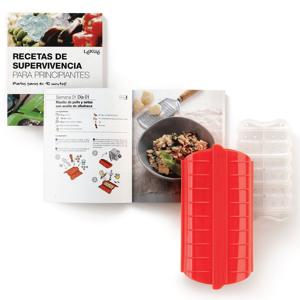 LEKUE Kit Estojo Cozinhar a Vapor+Livro de Receitas em Espanhol - Lekue