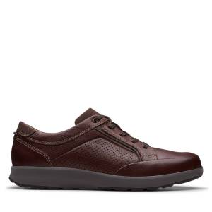 Clarks Sneakers - Un Trail Form Mahogany Leather