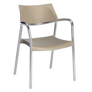 Resol - Conjunto de 2 cadeiras com braços cor de areia SPLASH - RESOL