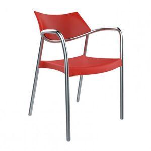 Resol - Conjunto de 2 cadeiras com braços vermelhas SPLASH - RESOL
