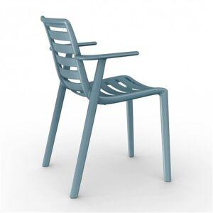 Resol - Conjunto de 2 cadeiras com braços azul retro SLATKAT- RESOL