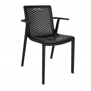 Resol - Conjunto de 2 cadeiras com braços pretas NETKAT - RESOL