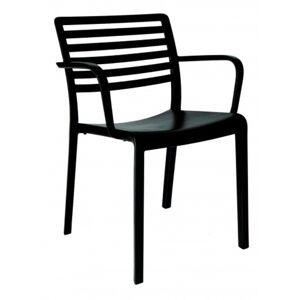 Resol - Conjunto de 2 cadeiras com braços pretas LAMA - RESOL