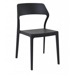 Conjunto de 4 cadeiras pretas SNOW - RESOL