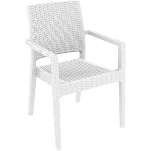 Resol - Conjunto de 4 cadeiras com braços brancas INDIANA - RESOL