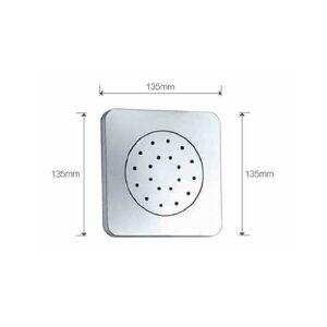 Imex® - Jato de duche com base quadrada  - IMEX