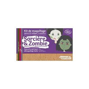 """Namaki Kit de maquiagem orgânica """"Witch & Zombie"""" de 3 cores 1 unidade - Namaki"""
