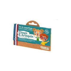 Namaki Kit de maquiagem infantil palhaço e arlequim bio 1 unidade - Namaki
