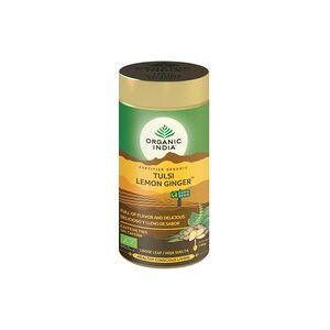 Organic India Tulsi Lemon Ginger a granel 100 g de pó - Organic India