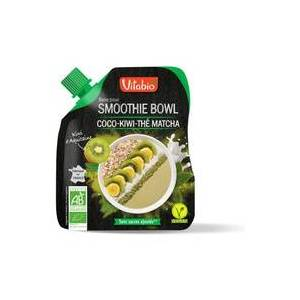Vitabio Base para Smoothie Bowl de Coco, Kiwi de Aquitaine e Chá Matcha 350 g - Vitabio