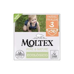 Fraldas Moltex Pure & Nature T3 (4-10 kg) 56 unidades - Moltex Pure & Nature