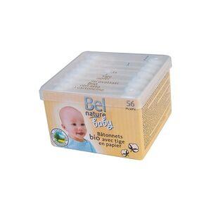 Ecodis Hastes de segurança para bebê em caixa de algodão 56 unidades - Ecodis
