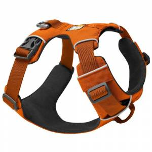 Ruffwear Peitoral Ruffwear New Front Range para ces - Tamanho S: medida do peito 56 cm-69 cm, L 25 mm - laranja