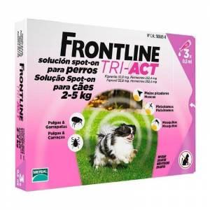 Frontline Tri-Act Cão 2-5Kg x 3 pipetas