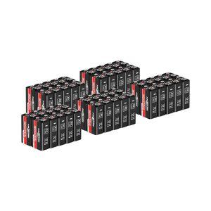Ansmann Conjunto de baterias industriais - alcalinas - 9V - E-Block - 6LR61 - 50 unidades 18000368