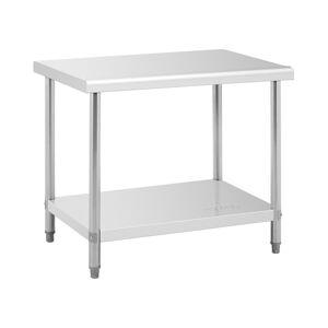 Royal Catering Mesa de trabalho de aço inoxidável - 100 x 70 cm - 95 kg 10011096