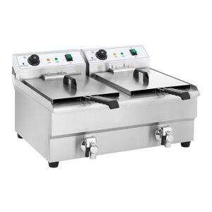 Royal Catering Fritadeira elétrica - 2 x 16 l - 2 x 3200 W 10010028