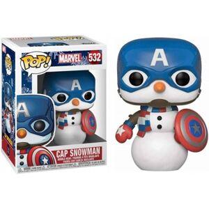 Marvel Holiday Figura FUNKO Pop! Marvel: Holiday - Captain America Snowman