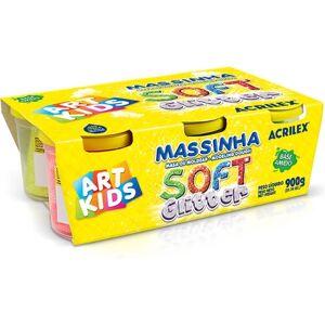 Plasticina Art Kids Soft Glitter 6x150g (Idade Mínima: 3 anos)