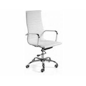 Cadeira de Escritório Operativa 75575 Branco (Costas altas - Braços Fixos - Pele Sintética)