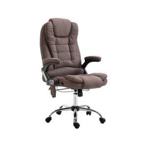 Cadeira Executiva c/ função massagem poliéster castanho