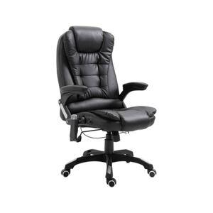 Cadeira Executiva c/ função massagem couro artificial preto