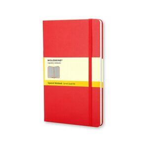 Bloco Hardcover Vermelho Quadriculado Grande