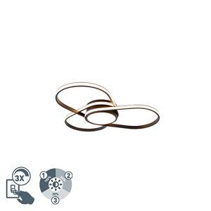QAZQA Plafon design preto regulável-3-estados LED - SPAS