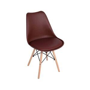 Cadeira Tilsen (Castanho - 49 x 84 x 51 cm - Polipropileno - Madeira)