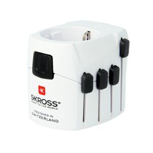 Skross Adaptador de Viagem World Adapter Pro (Universal - 2500 W - Branco)