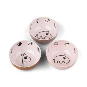 Conjunto de 3 Mini Tigelas Rosa DonebyDeer