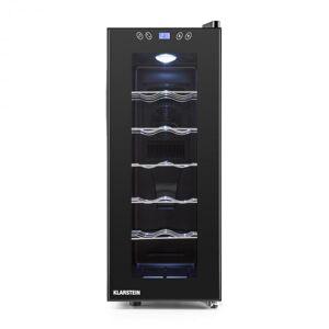 Vinamora Garrafeira Refrigerada 35 Litros 12 Garrafas Ecrã Táctil Iluminação LED Preto