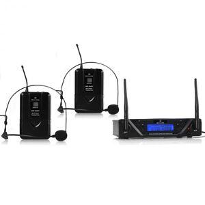 UHF 450 DUO2 Microfone UHF Sem Fios 2 Canais