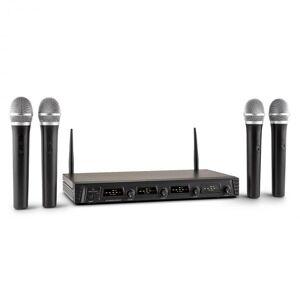 Duett Quartett Fix V1 Conjunto de Microfones Headset Sem Fios Wireless 4 canais UHF 50 m