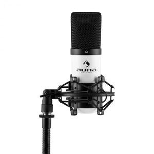 MIC-900WH Microfone USB Condensador Estúdio branco