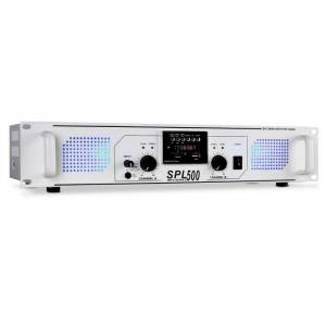 SPL-500 USB-SD-MP3 amplificador PA 1600W branco