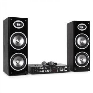 "3D-BT Karaoke Star Sistema Som Bluetooth USB 80W RMS 16cm 6,5"" Altifalantes"